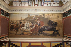 Wallpainting im Achillion Palast Stockfotografie