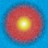 Wallpape голубого треугольника кубическое стоковая фотография rf