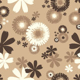 Wallpaper. Seamless Floral Wallpaper or Background Vector Illustration