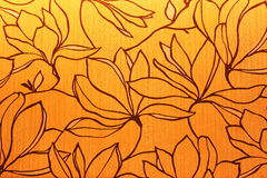 Wallpaper. Background of wallpaper with decorative flowers sketch Stock Photography