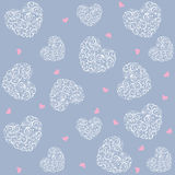 Wallpaper. Romantic wallpaper seamless background with delicate hearts Royalty Free Stock Photography