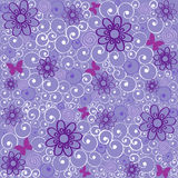 Wallpaper. Seamless background with a beautiful floral violet Royalty Free Stock Image