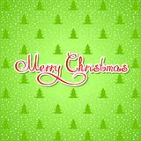 Wallpaper. Illustration background with trees and the words Merry Christmas Royalty Free Stock Image