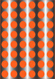 Wallpaper. Vector ornament. Circles and squares on an orange background Royalty Free Stock Images
