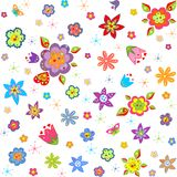 Wallpaper with abstract flowers Stock Photography