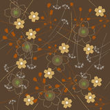 Wallpaper with abstract flowers - seamless pattern Royalty Free Stock Photography