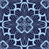 Wallpaper in abstract style. A seamless azure vector background. Symmetrical ornament. Graphic vector pattern. Royalty Free Stock Photo