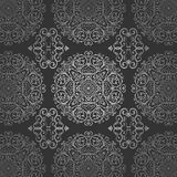 Wallpaper Arabic Batik Circle Floral Dark Silver Pattern Ornament Royalty Free Stock Photos