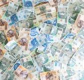 Wallpaper av polska pengar Royaltyfri Bild