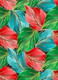 Wallpaper av seamless leaves Royaltyfri Bild