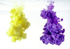 Abstract wallpaper background from ink color mix in water royalty free stock photography