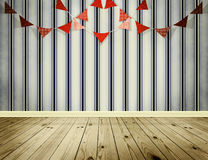 Wallpaper background with pennants festoon Royalty Free Stock Image