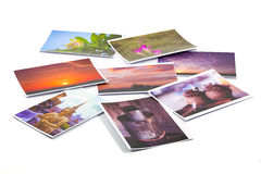 Wallpaper background of picture collage.  royalty free stock photos