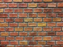 Brick wall. Wallpaper or background of red brick wall stock photos