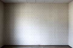 Wallpaper in bare room Royalty Free Stock Photo