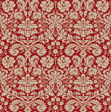 Wallpaper beige dark red. Old-fashioned wallpaper beige and dark red Royalty Free Stock Photo