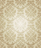 Wallpaper beige flow. Old-fashioned wallpaper beige flow Royalty Free Stock Photography