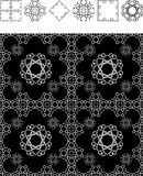Wallpaper black geometry. Geometric pattern wallpaper with isolated elements Royalty Free Stock Images