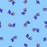 Wallpaper with blue fish. Stock Photography