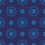 Wallpaper blue tribal. Blue tribal theme pattern wallpaper Stock Images