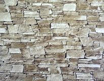 Wallpaper brick in beige tones stuck to the wall. The picture shows a brick wallpaper, beige, Designed for sticking to the walls of apartments or houses, as well royalty free stock image