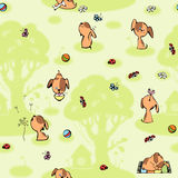 Wallpaper with brown puppies. Stock Image