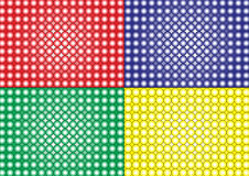 Wallpaper-bubbles-different colours Royalty Free Stock Images