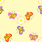 Wallpaper with butterflies Stock Photo