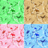 Wallpaper with butterflys. Royalty Free Stock Photos