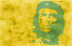 Wallpaper with Che. In green Stock Photo