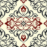 Wallpaper in classic style. Lace seamless pattern. Vintage background. Vector illustration. Stock Photos