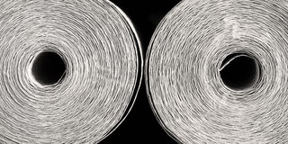 Wallpaper. Closeup of rolled wallpapers cross section Royalty Free Stock Photography