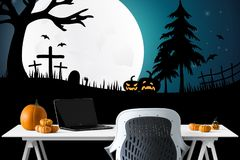 Wallpaper, Computer Wallpaper, Halloween, Illustration royalty free stock photography
