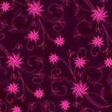 Wallpaper con el ornamento floral con las hojas y las flores. Fotografía de archivo libre de regalías