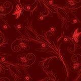 Wallpaper con el ornamento floral con las hojas y las flores. Fotos de archivo libres de regalías