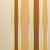 Wallpaper con i rettangoli e le linee marroni e beige dell'oro Fotografia Stock Libera da Diritti