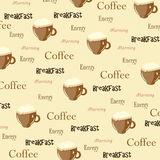 Wallpaper with cups Stock Image