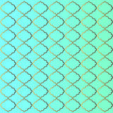 Golden and cyan pattern background. Cyan Turquoise Wallpaper Background with Preppy Golden Gold Pattern. EPS file available Stock Photo