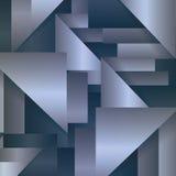 Wallpaper dans un style géométrique avec l'effet en métal Images libres de droits