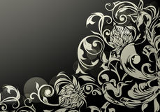 Wallpaper decor on Black Stock Photos