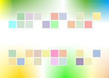 Wallpaper decorated with colorful boxes cheerful and bokeh abstract Royalty Free Stock Photo