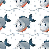 A wallpaper design with big fishes Royalty Free Stock Image