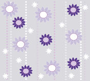 Wallpaper design with flowers vector illustration