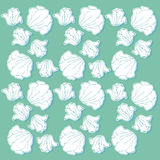 Wallpaper design with hand-drawn flowers. Royalty Free Stock Photography