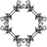 Wallpaper design for ornate of birthday cards, floral frame. Vector. Illustration royalty free illustration