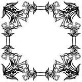 Wallpaper design for ornate of birthday cards, floral frame. Vector. Illustration stock illustration