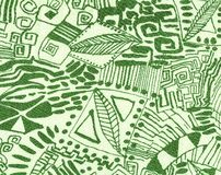Wallpaper drawn in green on beige. Royalty Free Stock Photography