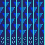 Wallpaper with elements of stripes and figures. Seamless pattern. EPS 10 Stock Image