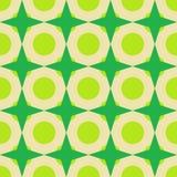Wallpaper en tonos verdes con los círculos y las estrellas Imagen de archivo