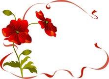 wallpaper för blommavallmotappning stock illustrationer